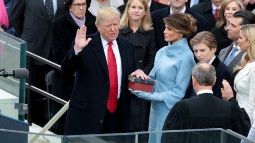 trump takes power